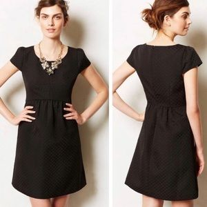 Anthro HD in Paris Black Simple Short Sleeve Dress